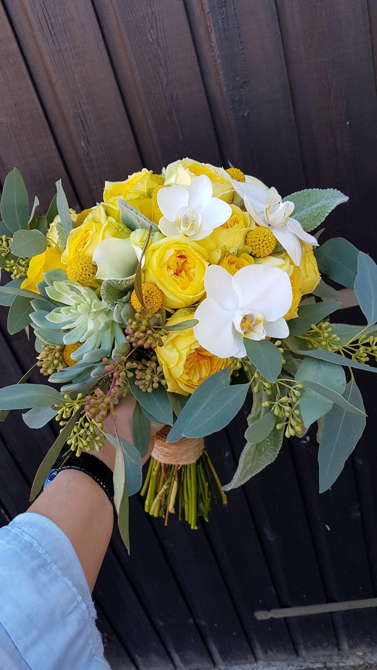 bruidsboeket geel